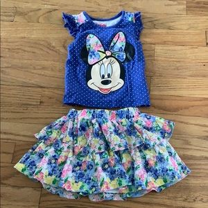 Minnie Mouse outfit, 3T shirt + skort